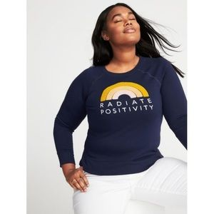 "Old Navy ""Radiate Positivity"" fleece pullover"